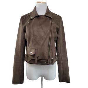 Talula Vegan Moto Jacket Size Large